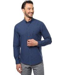 camisa casual azul marino  guy laroche