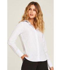 camisa martingale punho feminina