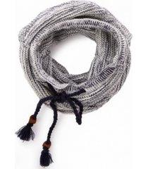 glitzhome striped infinity scarf with drawstring