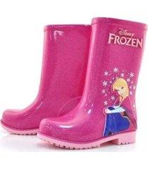 bota de lluvia fucsia grendene frozen funny store