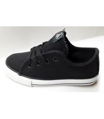zapatilla negra grow  walk lona
