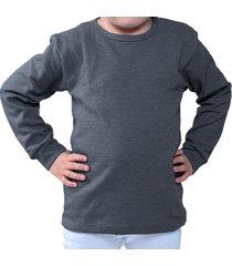 camiseta manga larga gris oscuro santana cuello redondo
