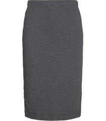 byrassa skirt - knälång kjol grå b.young