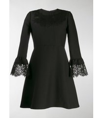 valentino lace insert short dress