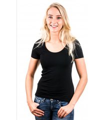 garage women t-shirt round neck black ( art 0701)