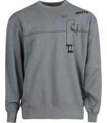 oversized cotton sweatshirt, fog grey