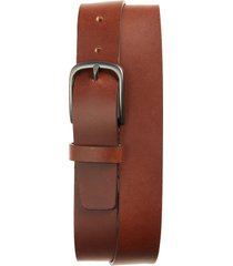 men's big & tall nordstrom men's shop dalton leather belt, size 46 - cognac
