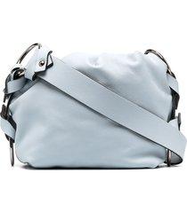 dorothee schumacher ruched pouch shoulder bag - blue