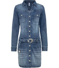 abito di jeans con cintura (blu) - rainbow