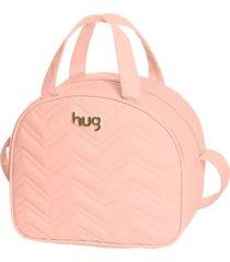 bolsa maternidade hug baby média linha chevron rosa