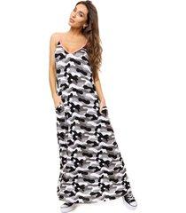 vestido gris al aniz camuflado