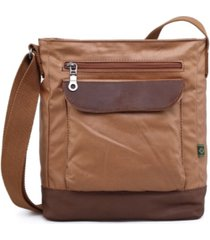 tsd brand women's urban light coated canvas crossbody bag