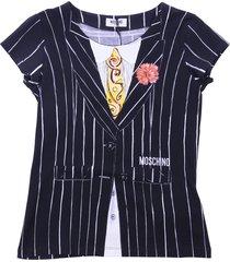 moschino black cotton jersey t-shirt