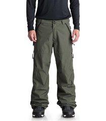 pantalon snowboard hombre nomad verde dc