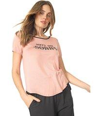 blusa lunender aplicaã§ãµes rosa - rosa - feminino - viscose - dafiti