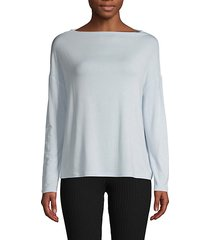 boatneck long-sleeve top
