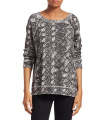n:philanthropy women's montreal python-print sweatshirt - python multi - size m