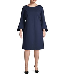 plus bell-sleeves shift dress