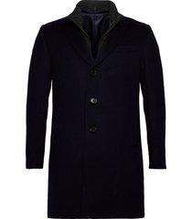 cashmere coat - sultan tech yllerock rock blå sand