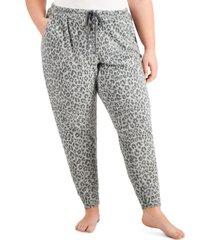 jenni plus size multi-color jogger pajama pants, created for macy's