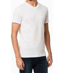 t-shirt slim flamê gola v - branco - pp