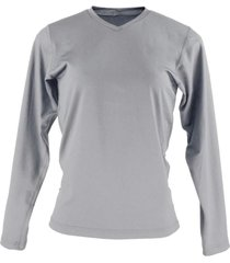 blusa tã©rmica feminina segunda pele gola v thermo premium original slim fit - cinza - cinza - feminino - poliã©ster - dafiti