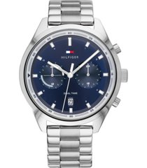 tommy hilfiger men's chronograph stainless steel bracelet watch 44mm
