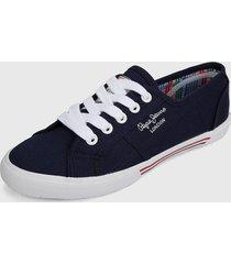 tenis azul-blanco-rojo pepe jeans