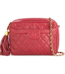 chanel pre-owned 1991-1994 chanel quilted fringe chain shoulder bag -
