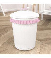 lixeira bebe menina branco/rosa girafinha grã£o de gente rosa - rosa - menina - dafiti
