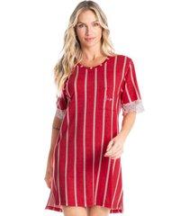 camisão curto estampado stripes