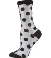 women's polka dot sheer ankle socks