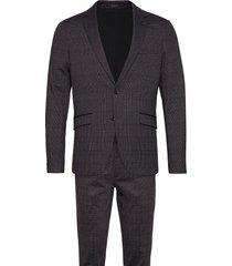 aop checked suit pak grijs lindbergh