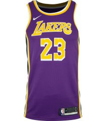 camisa regata nike los angeles lakers lebron james 23 - masculina - roxo