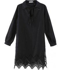vestido salida de baño bordados negro nicopoly