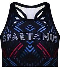 top de compressão doodle spartanus fightwear preto