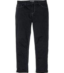 pantaloni termici in twill elasticizzato regular fit (nero) - bpc selection