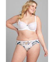 lane bryant women's lace unlined full coverage bra 44h bright white