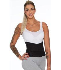 cinta modeladora abdominal esbelt easy waist unissex preta