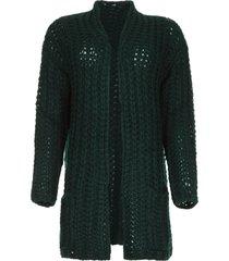 grofgebreid vest charly groen