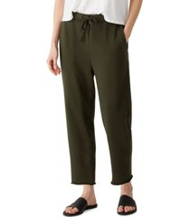 eileen fisher organic cotton ankle track pants