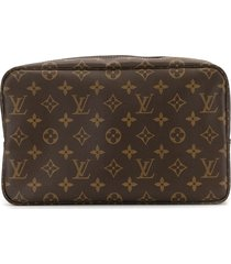 louis vuitton pre-owned 2002 trousse toilette 28 cosmetic bag - brown