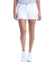 women's kut from the kloth gidget raw hem shorts, size 2 - white