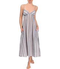 everyday ritual olivia nightgown, size xx-large in perissa stripe at nordstrom