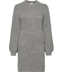 objeve nonsia l/s knit dress noos knälång klänning grå object