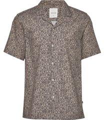 brandon shirt kortärmad skjorta beige wood wood