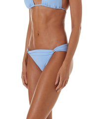 women's melissa odabash grenada bikini bottoms, size 12 - blue