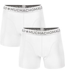 muchachomalo men 2-pack boxer solid/solid wit