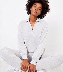 loft lou & grey signature softblend zip sweatshirt