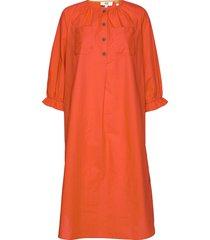 dress long sleeve jurk knielengte oranje noa noa